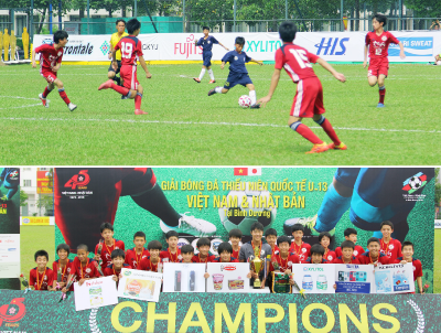 Sponsorship for the international youth cup U-13(Vietnam-Japan)