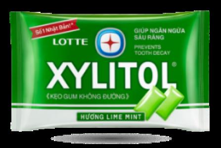 Kẹo gum không đường LOTTE XYLITOL hương Lime Mint