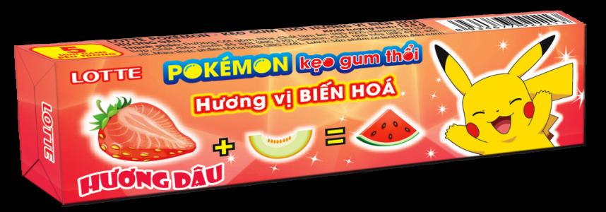 LOTTE Pokémon kẹo gum thổi hương dâu<br />