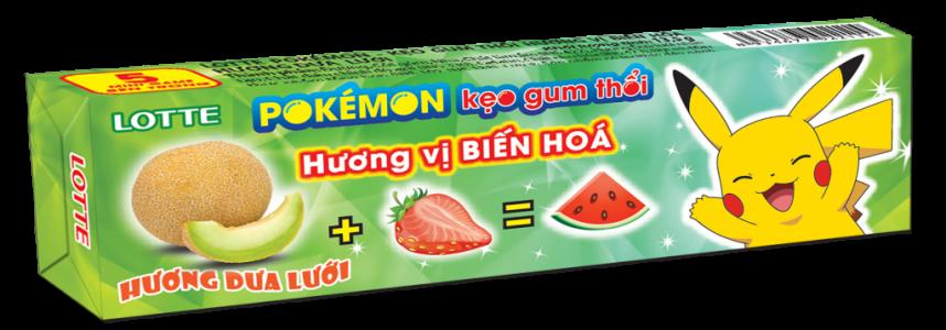 LOTTE Pokémon kẹo gum thổi hương dưa lưới<br />