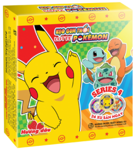 Kẹo gum thổi LOTTE Pokémon hương dâu<br />