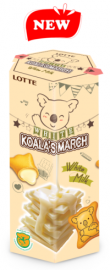 White Koala's March biscuits with milk cream and cheese filling
