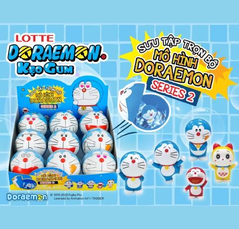 Ra mắt kẹo gum Lotte Doraemon mô hình đồ chơi – Mùa 2 (Series 2)